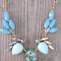 Tribal Inspired Necklace {Blue}