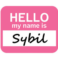 Sybil Hello My Name Is Mouse Pad