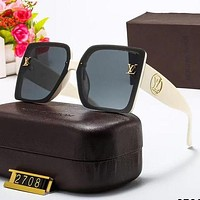 LV Louis Vuitton New Print Letter Sunglasses Sunglasses Glasses