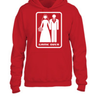 GAME OVER (HATE MARRIAGE) dark background - UNISEX HOODIE