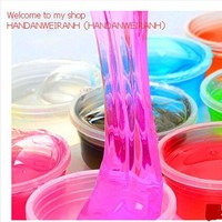 1piece / lots 12 colors can be non-toxic blowing bubbles crystal mud clay can draw slime Funny Toys