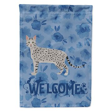 Egyptian Mau Cat Welcome Flag Canvas House Size CK4880CHF