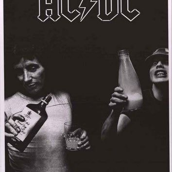 AC/DC Bon Scott and Angus Young Poster 24x34