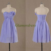 short chiffon sweetheart bridesmaid dresses with flowers custom size and color bridesmaid dresses cheap prom gowns for wedding party