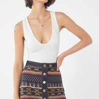 UO Timber Creek Button-Down Mini Skirt | Urban Outfitters