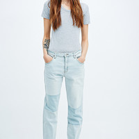 Somedays Lovin' Adams Patch Stretch Jeans in Light Blue - Urban Outfitters