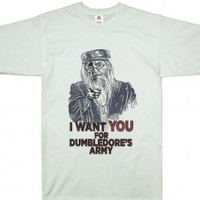 Dumbledore's Army I Want You , harry potter-Unisex White T-Shirt