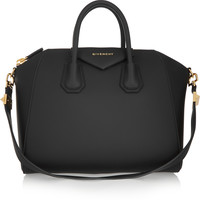 Givenchy - Medium Antigona bag in black rubberized canvas