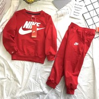 Nike Girls Boys Children Baby Toddler Kids Child Fashion Casual Top Sweater Pullover Pants Trousers Two Piece Set