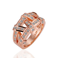 Geometry Rose Gold Plated Ring