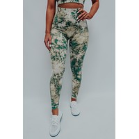 Stay Strong Pants: Green/Multi