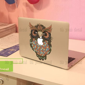 Owl.Decal for Macbook Pro, Air or Ipad Stickers Macbook Decals Apple Decal for Macbook Pro / Macbook Air