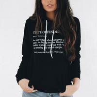 Text Offender Hoodie