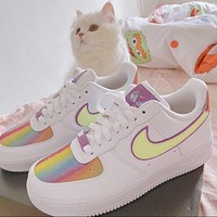 "Nike Air Force 1 ""Easter"" low-top skateboard shoes"