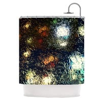 "Robin Dickinson ""Blinded"" Water Black Shower Curtain"