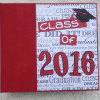 6x6 Class of 2016 Graduation Scrapbook in Red