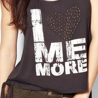"""""""I Love Me More"""" Cropped Tank - Graphic Tees  - Garage"""