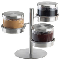 16W x 12D x 11.25H Mixology 3 Tier 32 oz Jar Holder SoLid/Base Stainless Steel Lid/Base