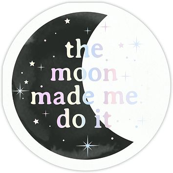 The Moon Made Me Do It Party/Beverage/Cocktail Napkins with Iridescent Foil Detail