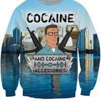 Cocaine and Cocaine Accessories Sweatshirt