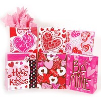"""""""be mine"""" matte large gift bag on art paper with gift tag Case of 120"""
