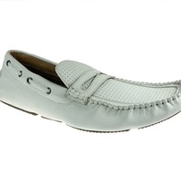 Mens Polar Fox Driver Moccasin Casual Loafers Shoes 13005 White-390