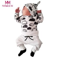 Newborn Infant Baby Girl Boy Cloud Print T Shirt Tops+Pants Outfits Clothes Set 2017 Winter Christmas Baby Girl Clothes Set