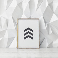 "DIGITAL Art""Arrow Printable""Grey Arrow,Geometric Art,Printable Wall Art,Home Decor,Wall Decor,Dorm Room Decor,Instant Download"