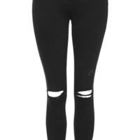 PETITE MOTO Washed Black Leigh Jeans - Washed Black