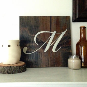 Letter Sign, Stained and Hand Painted, Customizable