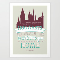 J.K.Rowling quote (Harry Potter) Art Print by Marta Lemon