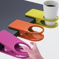 Tea accessories Home Office Desk Table Cup Clip Drink Cup Cans Coffee Mug Holder,  buy 3 get 1 free