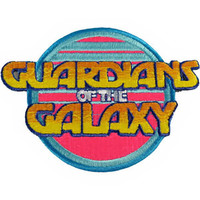 Guardians Of The Galaxy Iron-On Patch Retro Letters Logo