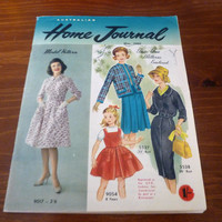 "Vintage May 1960 Edition of ""The Australian Home Journal"" / Sewing Knitting Crochet / Retro Advertisements / Collectible / Love Advice"