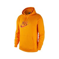Nike Men's NSW Sportswear Real Tree Club Camo Orange Fleece Pullover Hoodie
