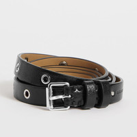 ALLSAINTS US: Womens Roza Leather Belt (black)