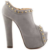 Luichiny - Mighty Miss - Light Grey Suede