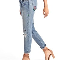 AUTHENTIC 1969 embroidered best girlfriend jeans   Gap