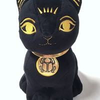 Bastet Egyptian Cat Stuffed Animal Plush 10.5H