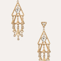 bebe Womens Geometric Layered Earrings Gold