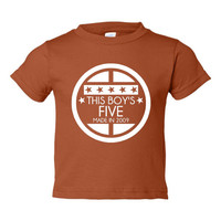 This BOY'S FIVE Made In 2009 Happy FIFTH Birthday Printed Graphic Fashion Tee Kids Youth Toddler Infant T Shirt Birthday T Shirt Only Here