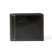 Fossil Bradley Black Bifold Leather Wallet