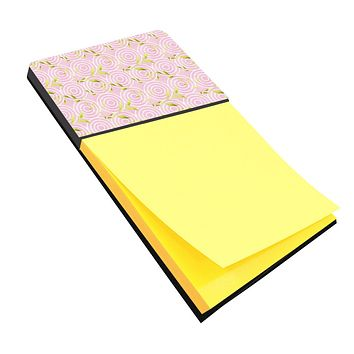 Gemoetric Circles on Pink Watercolor Sticky Note Holder BB7492SN