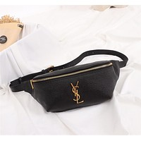 YSL SAINT LAURENT LEATHER WAIST BAG CHEST BAG CROSS BODY BAG
