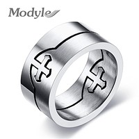 Rock Punk Stainless Steel Cross Rings Cool Best Valentines Gift For Men Male
