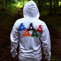 Palace autumn and winter back five-ring triangle hooded hoodie sweater
