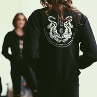 NELLA TIGER EMBROIDERY BOMBER JACKET