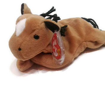 Free US Shipping, Ty Derby The Horse Beanie Baby DOB September 2 1995 Retired, Vintage Stuffed Toy, Vintage Plush, Collectible, Pony Plush