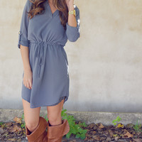 Gotta Get Up And Try Tunic: Grey | Hope's