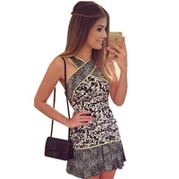Summer Dresses Casual Sleeveless V neck Casual Party Multi Color Hippie Dress